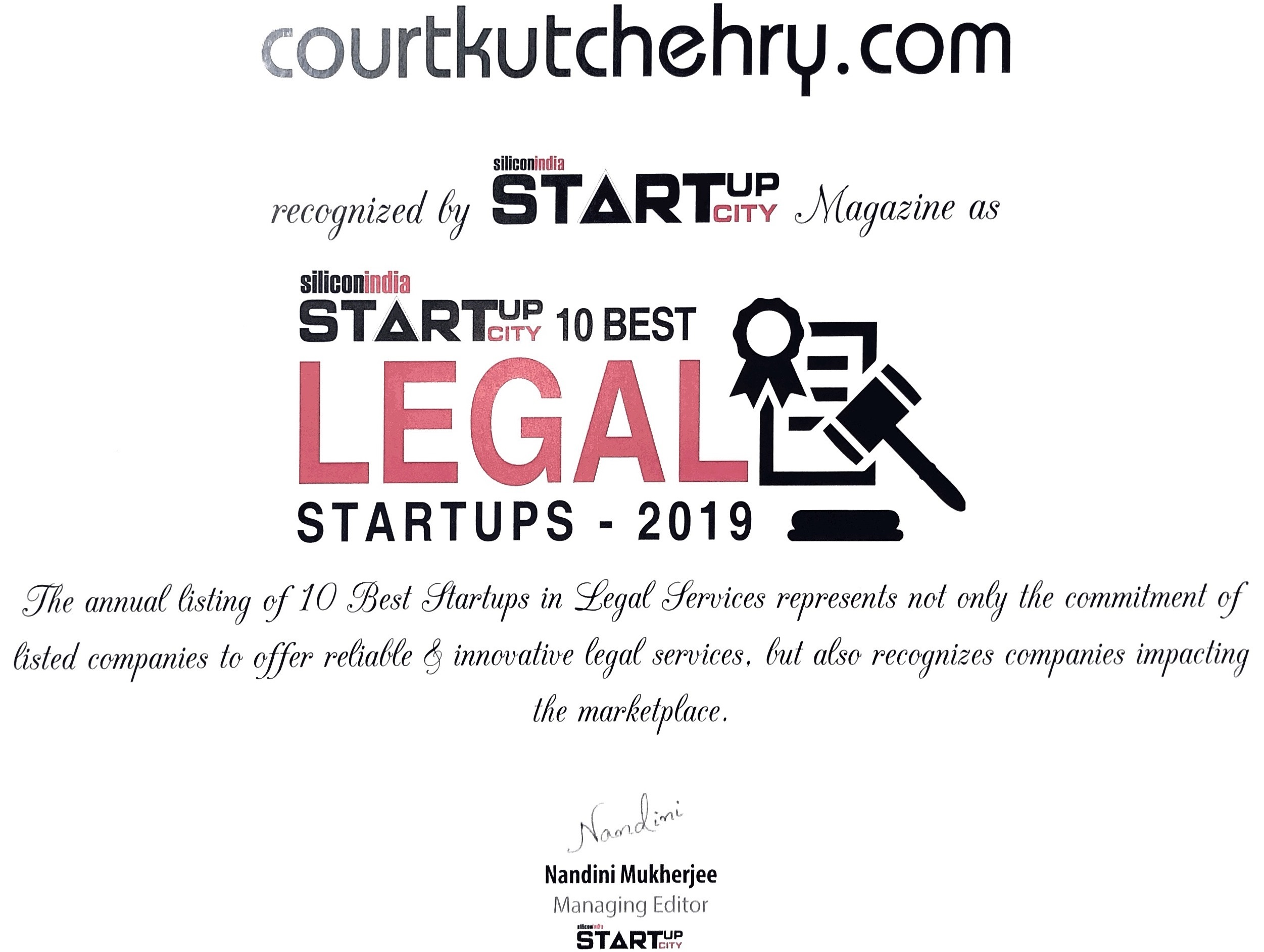 courtkutchehry legal startup certification